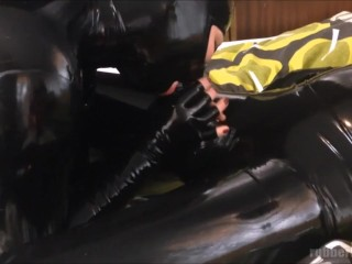 latex catsuit sex - fucking young horny rubberdoll