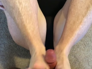 First time footfuck