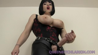 futa femdom makes you addicted to sperm and sucking cock  strap on coerced bi big tits dominatrix futa femdom cei mom dickgirl larkin love kink futanari mother big boobs female domination queen bitch