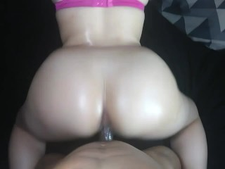 Redbone neighbor girl gets smashed from the back doggy style!