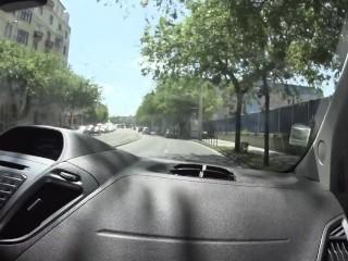 BBC JossLescaf BBC nude driving in the city #exibition #fun