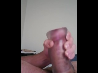 Using my pocket pussy to cum