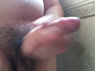 Cum in the shower solo