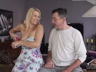 DADDY4K. Sleepy guy missed how his father fucks his girlfriend