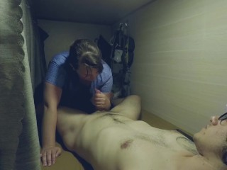 Girlfriend Sucks Dick in 14 Bed Dorm