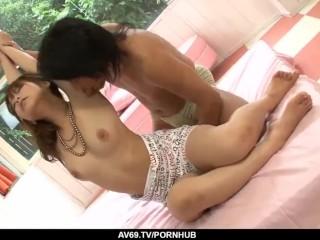 Nozomi Tsukamoto fantasy sex in the bedroom while - More at 69avs.com