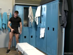 SEXY White Boy With A Nice Big Ass Dick - Locker Fuck