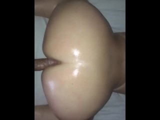 Pawg creaming from backshots