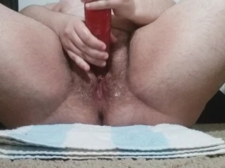 Lubricated Vibrating Dildo Fucking till Multiple Soaking Wet Orgasms