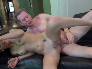 MANDY SKY SPRING BREAK SEX ON COUCH with STEP DAD