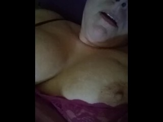 Lonely housewife squirts as she fucks herself again