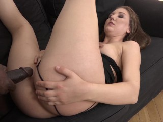 Black Cock Fucks Thick Ass Teen and Cums in her mouth she swallows the load