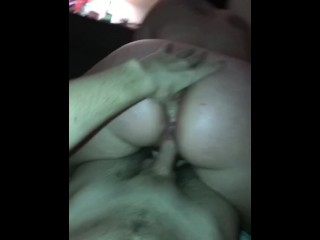 Big ass with wet dick