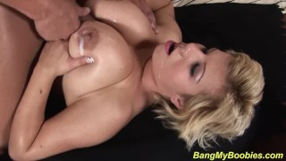 chubby Milf gets extreme tit fucked