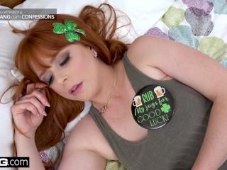 Lucky Irish hottie Penny Pax gets a St. Patricks day pounding