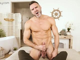 VRBGay.com Sexy Manuel Skye stroking his big cock Gay VR PORN (22 Mar 2018)
