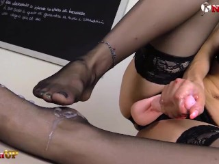 Video 1521213703: pov femdom foot fetish, nylon feet domination, nylon stockings foot fetish, female domination foot fetish, femdom milf strapon, milf feet solo, nylon feet heels, strapon teacher, milf school teacher, highheels fetish